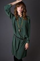 Dark-green-striped-silk-telltale-hearts-vintage-dress