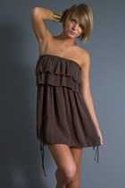 Light-brown-ruffled-mini-seneca-rising-dress