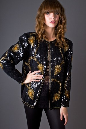 black telltale hearts vintage jacket