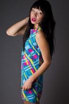 Neon Print Mini Telltale Hearts Vintage Dresses