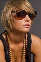 Dark Brown Yves St Laurent Sunglasses
