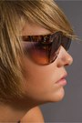 Dark Brown Yves St Laurent Sunglasses
