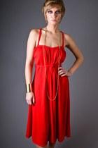 Red Telltale Hearts Vintage Dresses