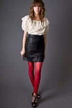 Vintage Alligator Print Leather Mini Skirt