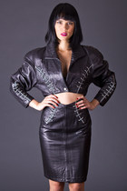 Vintage North Beach Leather Suit