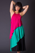 Vintage Color Block Disco Dress