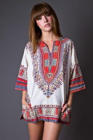 off white telltale hearts vintage blouse