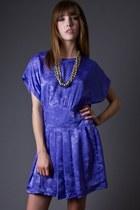 Light Purple High Waist Mini Telltale Hearts Vintage Dresses