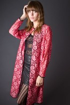 Hot Pink Telltale Hearts Vintage Coats