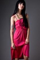 Hot Pink Hot Pink Disco Telltale Hearts Vintage Dresses