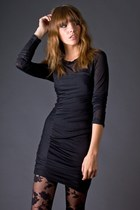 black bodycon tencel funktional dress