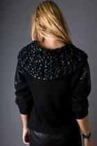 Black Telltale Hearts Vintage Sweaters