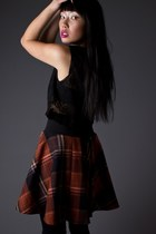 Plaid-mini-telltale-hearts-vintage-skirt