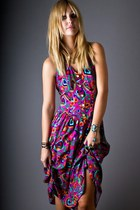 Amethyst Telltale Hearts Vintage Dresses