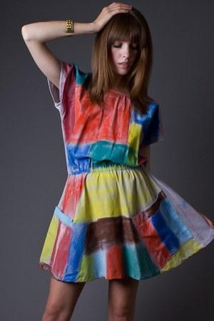 colorblock mini telltale hearts vintage dress