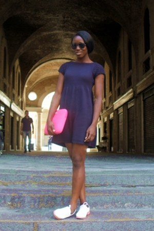 Zara dress - H&M sunglasses - River Island loafers