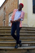 romwe boots - united colors of benetton jeans - asos blazer - Zara shirt