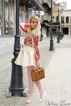 Atelier Aiurea scarf - vintage bag - Atelier Aiurea blouse - Aiurea shoes heels