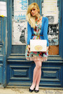 Sky-blue-bohoo-dress-blue-zara-blazer-navy-new-look-flats