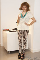 H&M necklace - H&M blouse