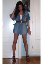 BLANCO dress - H&M t-shirt - belt - Zara shoes