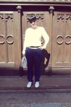 white Gate shoes - white oodji bag - black New Yorker sunglasses