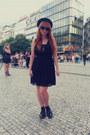 Black-tally-weijl-shoes-black-tally-weijl-dress-black-h-m-hat