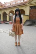 bronze Orsay dress - off white Orsay tights - beige I am bag
