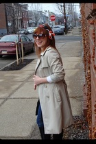 banana republic coat - JBrand jeans - banana republic scarf - Nine West boots -