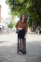 H&M skirt - PROENZA SCHOULER bag - Zara sandals