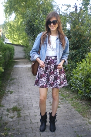 vintage jacket - H&M skirt