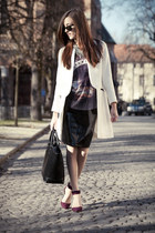 Zara coat - H&M skirt