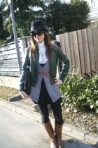 Zara jacket - H&M hat - Miss Selfridges dress