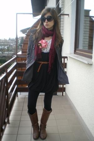 Miss Selfridges dress - H&M accessories - Topshop belt