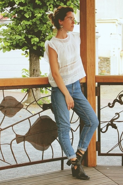 Chicwish top - Topshop jeans