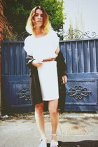 Mango dress - united colors of benetton coat - H&M sandals