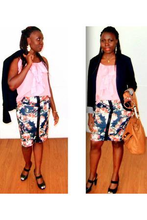 ruffles H&M top - bodycon H&M skirt