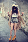 Denim-shorts-shorts-top-necklace-litas-jeffrey-campbell-heels