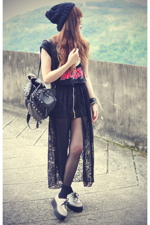 lace skirt skirt - creepers Udobuy shoes - backpack theeditorsmarket bag
