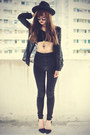 Skinny-jeans-topshop-jeans-oasap-hat-sheinside-blouse-sheinside-necklace