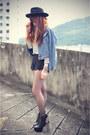 Litas-jeffrey-campbell-boots-oasap-hat-oasap-jacket-lace-sheinside-shorts