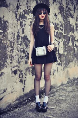 platform OASAP shoes - FEMMEX dress - OASAP hat - Choies bag - Choies sunglasses