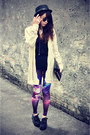 Galaxy-sheinside-leggings-knitted-cardigan