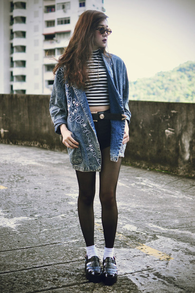 younghungryfree coat - Topshop shorts - Choies sunglasses - MiniMinou necklace