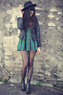 Leather-boots-o-mighty-dress-oasap-hat-pu-jacket-sheinside-jacket