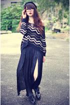 ianywear sweater - Choies skirt - beanie accessories