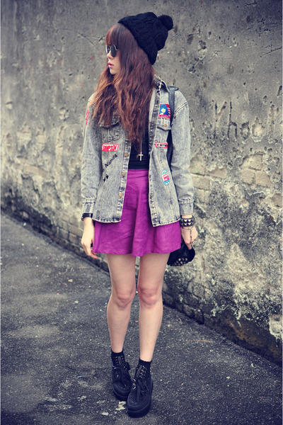denim jacket - Forever 21 hat - skirt
