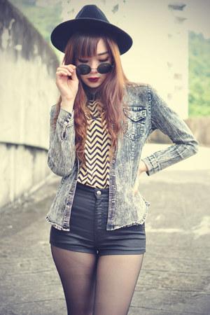 OASAP hat - hungryyoungfree shoes - Choies shirt - round sunglasses