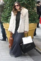 Alexander Wang bag - vintage fur jacket - YSL accessories