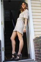 Miu Miu heels - vintage dress